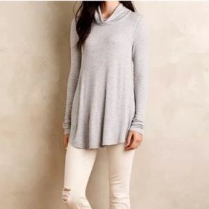 Anthro Deletta Cara Cowlneck Swing Sweater